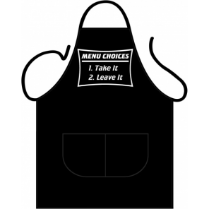 Partychimp apron Menu Choice 80 x 56 cm polycotton one-size
