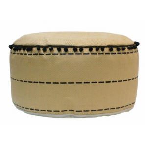 Rox Living footstool 45 x 25 cm reed/polyester beige
