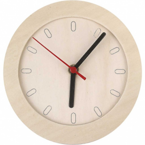 Creotime Clock with wooden frame 15 cm