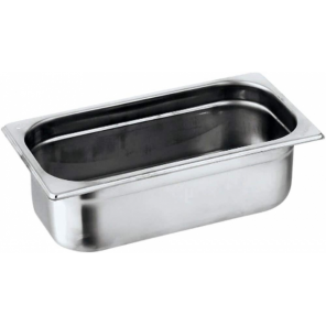 Paderno gastronorm container 32,5 x 18 x 6,5 cm stainless steel silver