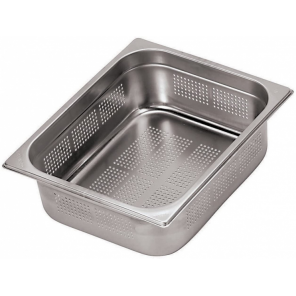 Paderno gastronorm tray with holes 53 x 32,5 x 15 cm stainless steel silver