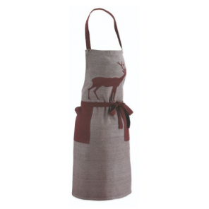 Kela kitchen apron Henrik 80 x 67 cm cotton grey/brown