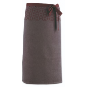 Kela kitchen apron Henrik 90 x 70 cm cotton grey/brown
