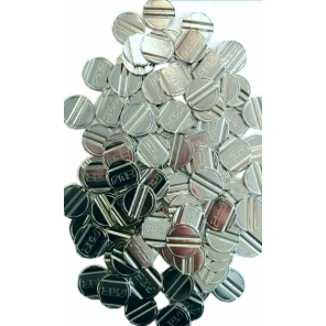 FAS table football tokens steel silver 20 pcs