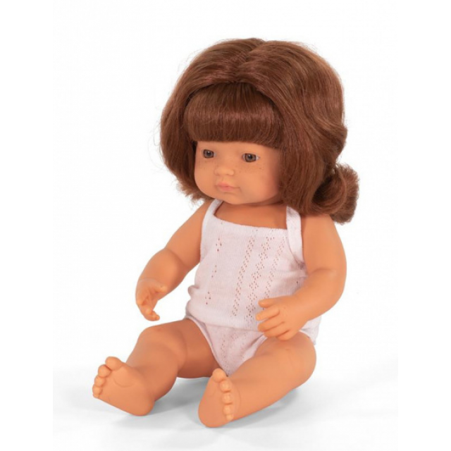 Miniland baby doll girl with vanilla scent 38 cm rossig