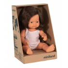 Miniland baby doll girl with vanilla scent 38 cm brunette