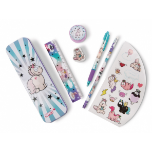 Nici writing instruments set Theodor & Friends pink/turquoise 6-piece