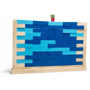 BS Toys wall game 50 x 34 cm wood blue