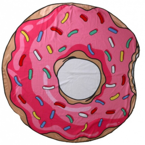 Gerimport beach towel Donut 150 cm polyester pink