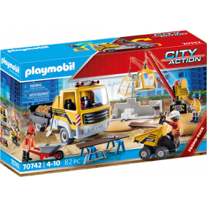 PLAYMOBIL City Action - Construction site with dump truck
