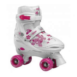 Roces quaddy 3.0 roller skates white/pink 30-33