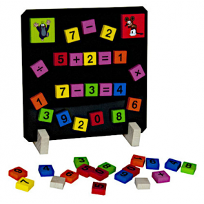 Detoa learning game numbers and signs junior 16,5 cm wood 40 pcs