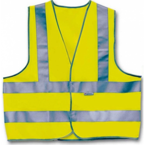 4-Act Safety Vest 3 Stripes Unisex Yellow Size XL- S1