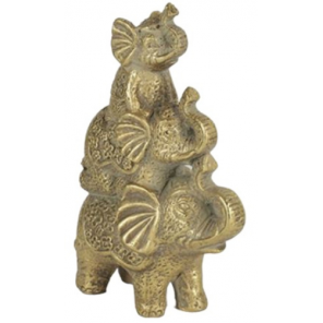 Countryfield statue Olifant Benji 14,5 x 7,5 x 22 cm clay gold