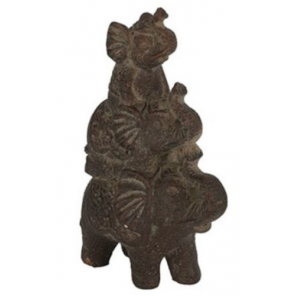 Countryfield statue Olifant Benji 24 x 11 x 34 cm clay brown
