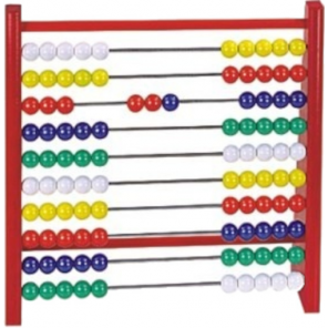 Detoa abacus Abacus junior 24 x 23 cm wood red
