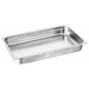 Paderno gastronorm tray 53 x 32 x 2 cm stainless steel silver
