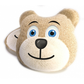 Carbotex cushion Bear 40 cm polyester light brown