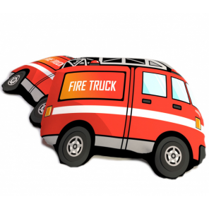 Carbotex cushion Fire Truck 40 cm polyester red