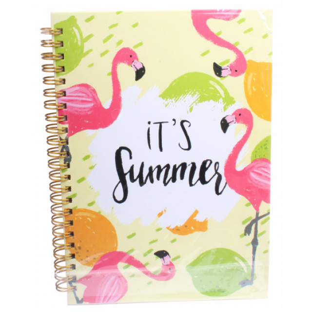 I-Total notebook It's Summer hardcover A5 paper/cardboard